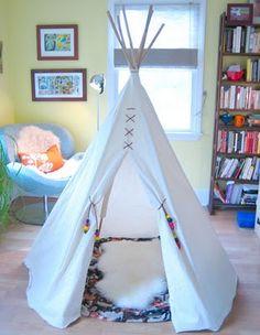 Tutorial für ein Tipi, Indianderzelt/ Kinder Zelt
