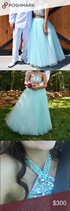 Sherri hill prom dress Light/sky blue Sherri hill prom dress. It is a 00 and fits like a 0 Sherri Hill Dresses Prom