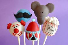 Lil Cutie Circus Party Cake Pops