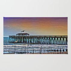 Myrtle Beach State Park Pier - Photo as Digital Paint Rug