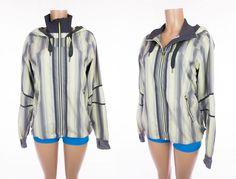 LULULEMON Track And Field Jacket 10 M Citron Ombre Vertical Stripe Coal Rare #Lululemon #ActivewearJacket