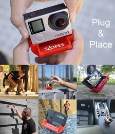 SLOPES is an innovative new stand for GoPro HERO cameras that uses a polyhedron shape to give you 20 different positions. Mount your camera to it, and you Gopro Diy, Gopro Drone, Drones, Gopro Hero 4 Black, Gopro Hero 5, Gopro Ideas, Gopro Fotografie, Camera Hacks, Tips