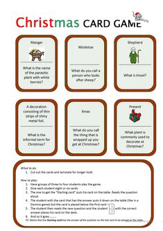Christmas Card Game worksheet - Free ESL printable worksheets made by teachers Christmas Board Games, Christmas Cards Drawing, Alzheimers Activities, Christmas Worksheets, English Lessons, English Tips, Board Games For Kids, English Activities, Classroom Games