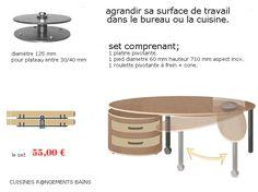 PIED DE TABLE PIVOTANTE - CUISINESR@NGEMENTSBAINS