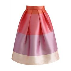 Chicwish Lollipops Color Block Printed Midi Skirt