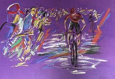 Froome La Vuelta  cycling art