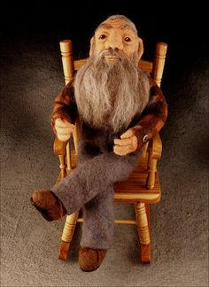 'The Moonshiner' Needle Felted Popcorn Sutton  Art Doll by Di Pugh, via Flickr