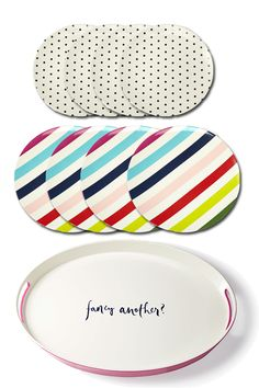 kate spade plates & serving tray