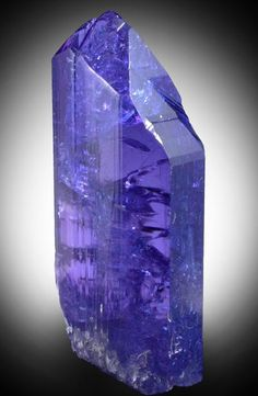 Mineral Specimens: Tanzanite Crystal (gem variety of Zoisite) from Karo Mine, Merelani Hills, western slope of Lelatama Mountains, Arusha Region, Tanzania