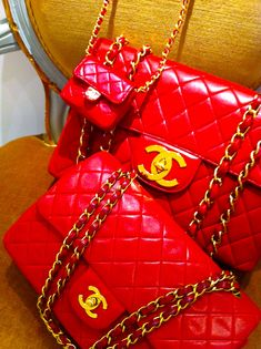Chanel Red Patent