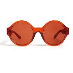 The Row Terracotta Acetate W. Red Leather Sunglasses