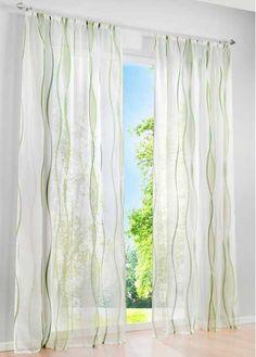 Jetzt anschauen: Preistipp! Farbige Gardine bedruckt, transparent, waschbar, mit Kräuselband. Maße = Stoffmaße (ca. Höhe/Breite).