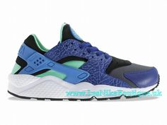 Nike Air Huarache Men´s Nike Sportswear Shoe Deep Royal Blue/ Blue Hero- Green Glow- Black 318429-443