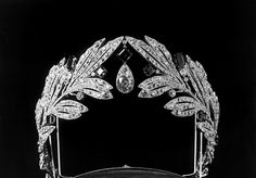 A tiara once owned by Princess Marie Bonaparte, made by Cartier in 1907.  Most usually seen in its all diamond version.