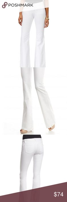 Michael Kors Selma Flare White Cotton Jeans SZ 00 Brand New With Tags Display item; Shows Minor Signs of Trying On Size: 00 Material: Cotton Blend Michael Kors Jeans Flare & Wide Leg