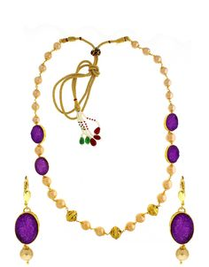 Purple Colour Beads Styled Designer Traditional Necklace Set for Women/Girls -- Learn more by visiting the image link. (As an Amazon Associate I earn from qualifying purchases) Long Pearl Necklaces, Long Chain Necklace, Necklace Set, Jewelry Art, Jewelry Necklaces, Jewellery, Necklace Online, Necklace Designs, Fancy
