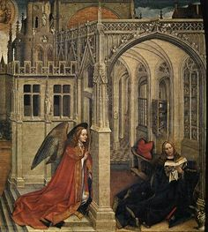 The Annunciation, 1430 - Robert Campin