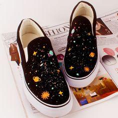 Harajuku planet universe canvas shoes - Thumbnail 1