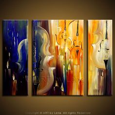 """Winter Ball"" - Original Music Art by Lena Karpinsky, http://www.artbylena.com/original-painting/555/winter-ball.html"
