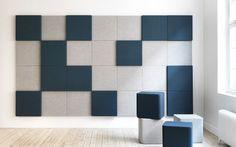 Panel acústico de tela / mural / de colores / para oficina SONEO WALL ABSTRACTA