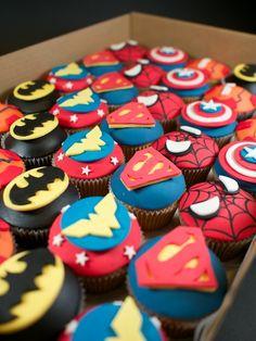 Superhero Cupcakes | Crumbs & Doilies