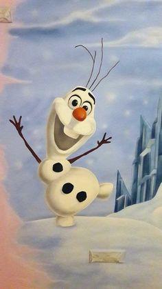 olaf frozen παιδικο δωμάτιο τοιχογραφία Frozen, Olaf, Snowman, Disney Characters, Fictional Characters, Snowmen, Fantasy Characters