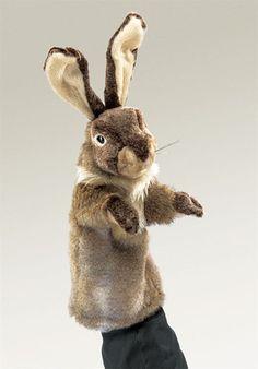 AardvarksToZebras.com - Rabbit Stage Puppet from Folkmanis Puppets