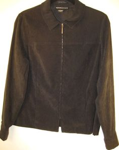 Norton McNaughton Women Zip up Jacket Size 10 Black 97% Polyester 3% Spandex #NortonMcNaughton #BasicJacket