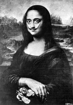Salvador Dali. Self Portrait as Mona Lisa. 1954 Photographic elements by Philippe Halsman from: Marcel Duchamp