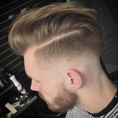 20 Faded Mohawks: Awesome Is What They Are. Side Part With Fade And Facial  Hairstyle
