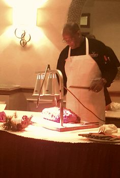 The carving station at the 2015 Holiday Party #TeamRand