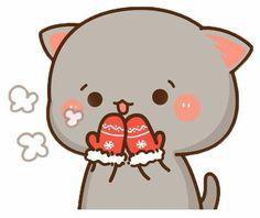 Cute Kawaii Animals, Kawaii Cat, Kawaii Chibi, Kawaii Anime, Cute Love Pictures, Cute Love Gif, Cute Images, Cute Kawaii Drawings, Kawaii Doodles