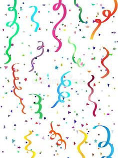 Illustration about Abstract background of falling confetti and streamers. Illustration of fiesta, christmas, year - 6455323 Confetti Background, Doodle Background, Background Diy, Diy Confetti, Glitter Confetti, Confetti Balloons, New Years Eve Pictures, Royal Icing Transfers, Balloon Pictures