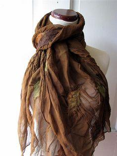 fullenstar.......nuno felt/silk scarf