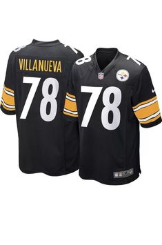5c62faac9 W tags Pittsburgh Steelers  78 Alejandro Villanueva Nike Jersey Mens Med  for sale online