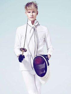 Haute Hobby Shoots  The Gerard Freidl Technikart Editorial Features Couture Sportswear