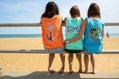 Coastal Charm Girls! Shop our compass and anchor tees at CoastalCharmTees.com  Coastal Charm has vowed to donate 10% of its net profits to coastal conservation charities, with the Surfrider Foundation receiving 7.5% of those donations to help preserve our nation's coastlines
