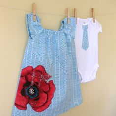 Brother and Sister Set  Twins  Girl Peasant by CorinneCitrolo, on etsy