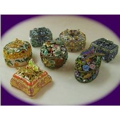 Trinket boxes, Swarovski crystals