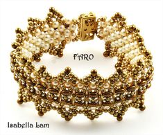 FARO SuperDuo Beadwork Bracelet Pdf tutorial instructions for personal use only via Etsy