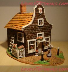 Miniatures. polymer clay house tutorial