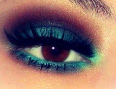 chocolate & mint smokey eyes