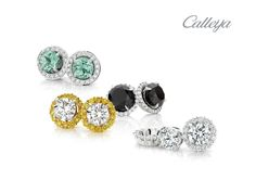 One of our favourite gift ideas at Calleija is to have a pair of diamond jackets crafted for his/her existing diamond studs, making the central jewels look twice the size. Select the same colour, or a complementary colour, for a perfectly personalised present.