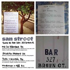 Have you ever been to a pop-up restaurant at 327 Braun Court? San Street [Cart] is there tonight! Check it out