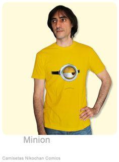 Camiseta Minion #minion #camisetas_geek #camisetas_divertidas #camisetas_friki