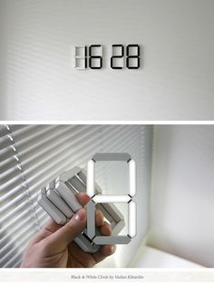 Stick-anywhere digital clock. Too cool.