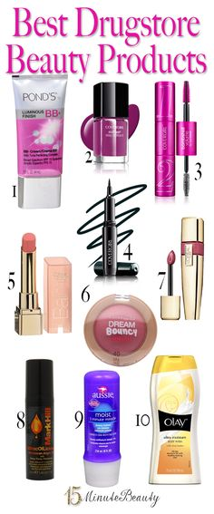 The Best Drugstore Beauty Products via 15MinuteBeauty.com