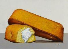 "Daily Paintworks - ""Twinkies Snack Cakes"" - Original Fine Art for Sale - © Kim Testone"