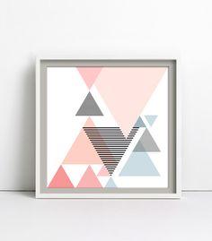 triangle love III, Print / Poster 30x30cm von goodgirrrl auf DaWanda.com