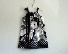 Hey, I found this really awesome Etsy listing at https://www.etsy.com/listing/67952283/girls-black-and-white-pillowcase-dress